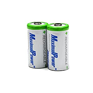 Maximal Power RCR123A Rechargeable Li-ion battery for RCR123A, RCR123, CR123A, CR123, CR16340, 16340, CR17335, CR17335SE, 17335, CR17345 and 17345