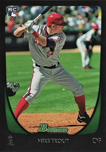 2011 Bowman Baseball Rookie Card - 2011 Bowman Draft Picks & Prospects - Mike Trout - Los Angeles Angels Baseball Rookie Card RC #101