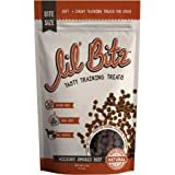 Lil' Bitz Hickory Smoked Beef Training Treats for All Dog Breeds - Low Calories, Grain Free, Natural Ingredients, NASC Compli