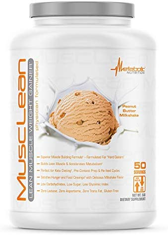 Metabolic Maintenance Nutrition Musclean Milkshake Weight Gainer, Peanut Butter, 5 Pound
