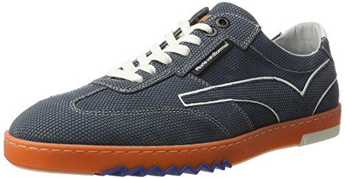 Floris van Bommel 16074/13, Sneaker Uomo Blu (Blue Blue Nubuck)