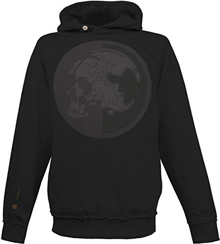 Musterbrand Metal Gear Solid Kapuzen Pullover Men Msf Stealth Operative Kapuzen-Sweatshirt Schwarz