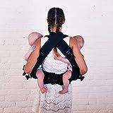 4 in 1 Malishastik Twin Baby Carrier Adapt Black