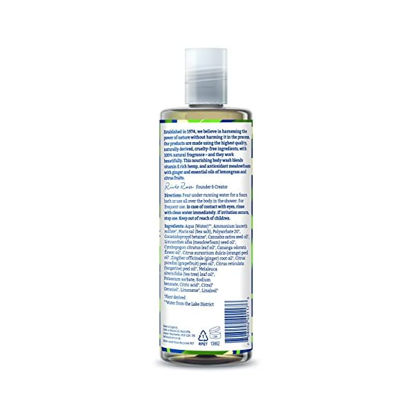 Faith in Nature Natural Hemp and Meadowfoam Body Wash, Restoring Vegan and Cruelty Free, Parabens and SLS Free, 400ml