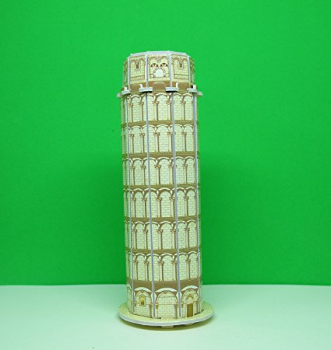 Mini 3D Puzzles Architecture 'Leaning Tower of Pisa' Easy for Baby 3 Years and more : Mini Size 2
