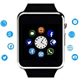 Smart Watch Touchscreen SmartWatch Phone with Call SMS Text Sync SIM SD Card Slot Camera Music Player Compatible Android Samsung iPhone, Pedometer Sedentary Sleep Monitor Watch for Men Women Teens