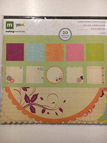 Making Memories Ledger 8x8 Paper Flower Die Cut - Memories Ledger