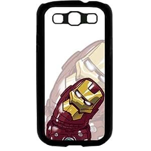 Popular Cute Cartoon Iron Man Samsung Galaxy S3 SIII I9300 Soft Black or White case (Black)