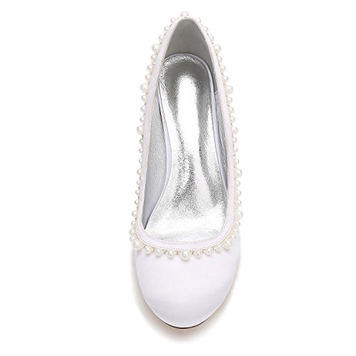 Nupcial Marfil Novia Zapatos 35 L Red Corte Honor De Mujeres 7 Boda Satén 17061 Tallas Rhinestone T 3 Damas Dama yc xnwvwq04z