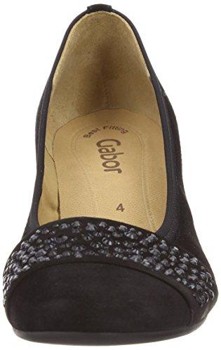Gabor Shoes Gabor Basic, Zapatos de Tacón para Mujer negro - negro