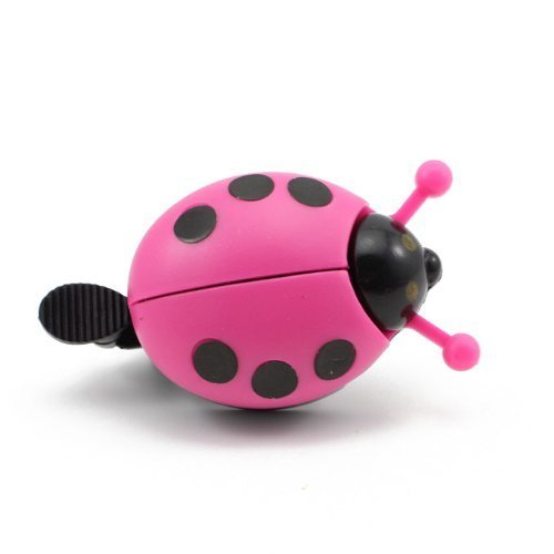 Generic Kid Funny Ladybug Cycling Ride Bike Ring Bell(Hot Pink)