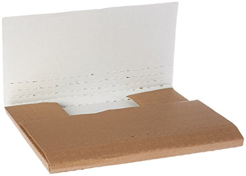 "The Packaging Wholesalers ( 50 ) 12 1/8 x 9 1/8 x 2"" White Multi-Depth Corrugated Book Fold (BSM2BK)"