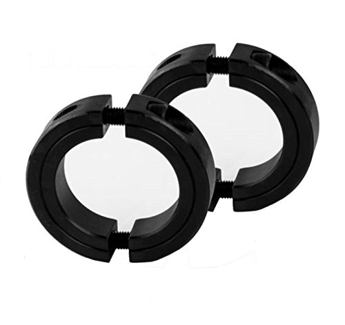 2-PIECES 1'' Bore Two-Piece Clamping Collar, Black Oxide Plating