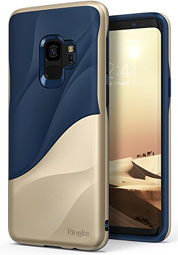 Galaxy S9 Case Ringke [WAVE] [Marina Gold] Dual Layer Heavy Duty 3D...