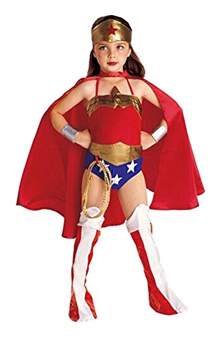 Ameny Children Girls Superwoman Cosplay Halloween Costume Disguise Dress Red S/90-100cm/2Y-3Y (Superwoman Halloween Costumes)