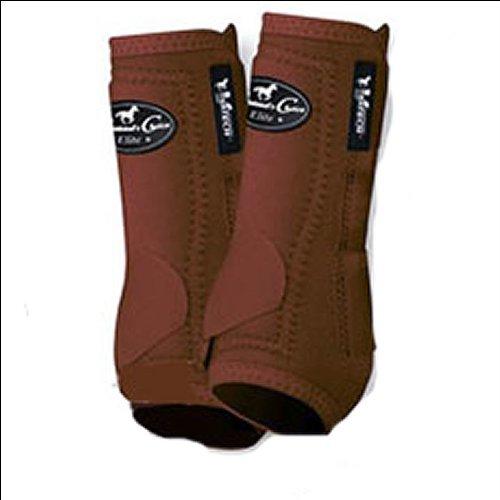 (Professionals Choice Equine Sports Medicine Ventech Elite Front Leg Boot, Pair (Medium, Chocolate Brown))