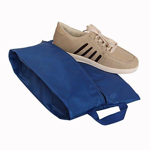 Yepal Unisex-Adult Waterproof Nylon Travel Handy Shoe Bag Ideal Travel Sac Blue