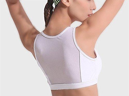 Adatto Gilet Donna 2 Huateng Due Bianco Stampato Top A Allenamento Sportivo Ginnastica Reggiseno Abbigliamento Pezzi Attiva Da E tBP7qB