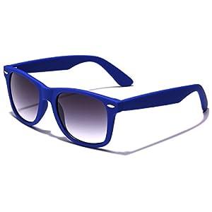 Colorful Retro Fashion Sunglasses - Smooth Matte Finish Frame - Navy