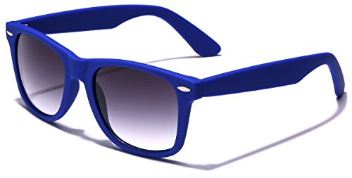 Colorful Retro Fashion Sunglasses - Smooth Matte Finish Frame - - Navy Blue Sunglasses