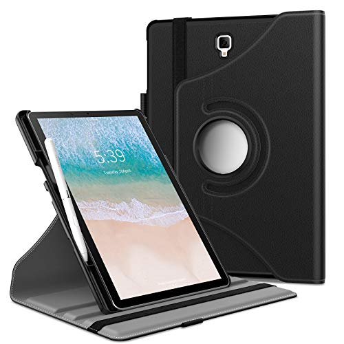 Infiland Tab S4 10.5 Case with S Pen Holder, 360 Degree Rotating Case Support Auto Sleep/Wake Compatible with Samsung Galaxy Tab S4 10.5-inch 2018 Release Tablet Model SM-T830/T835, Black