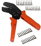 SN-28B Dupont Ratcheting Crimper Tool 2.54mm 3.96mm with 20 Practice Dupont Pins/Connectors