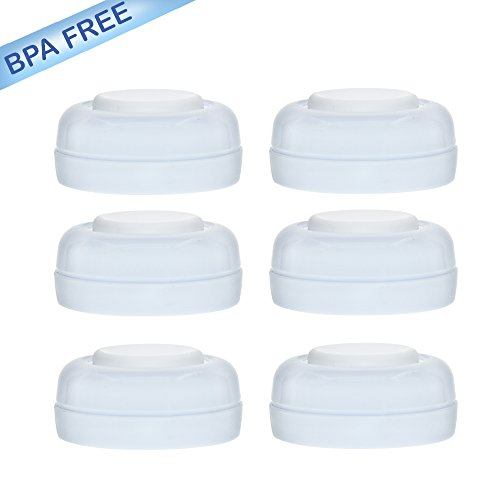 - Maymom Screw Lids Aka Travel Caps with Rewritable Sealing Disc for Avent, Maymom Wide Mouth Bottles; Cap Replace Avent Natural Bottle Sealing Ring and Sealing Disc,6pcs/1set.