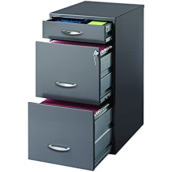 Incroyable Hirsh SOHO 3 Drawer File Cabinet In Charcoal