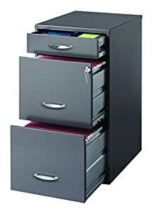 detailed look b342c 7d9a7 Hirsh SOHO 3 Drawer File Cabinet in Charcoal