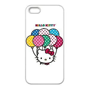 Hello Kitty With Balloons iPhone 4 4s Cell Phone Case White Protect your phone BVS_609009