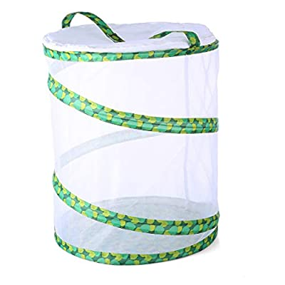 Yamix Mesh Grasshopper Silkworm Firefly Butterfly House Butterfly and Insect Habitat Cage Butterfly Terrarium Pop-up 13.8