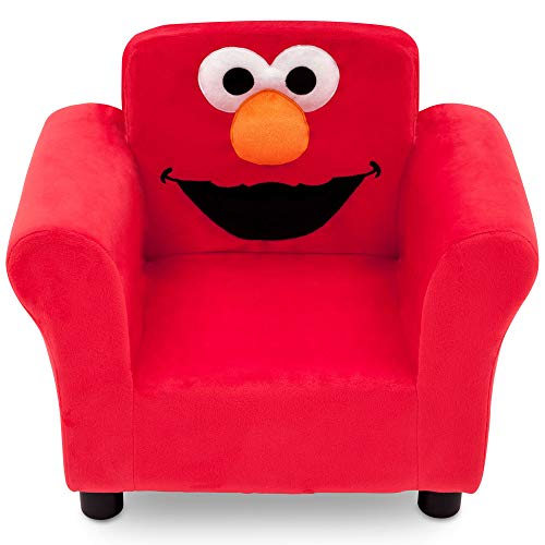 Sesame Street Elmo Upholstered Chair (Box Sesame Street Toy)
