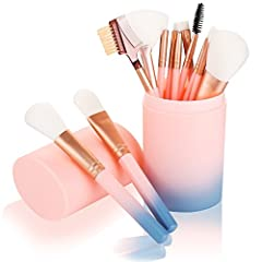 12Pcs Make Up Brushes Set Eyeshadow Eyeline Makeup BrushHow to use 12 makeup brushes 1.fan brush: Clean up the excess powder on the face, make makeup more natural.2. Eyebrow comb: a good eyebrow, more spiritual, elegant and elegant.3. Mascara...