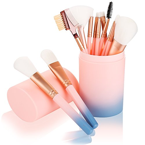 - Makeup Brush Sets - 12 Pcs Makeup Brushes for Foundation Eyeshadow Eyebrow Eyeliner Blush Powder Concealer Contour