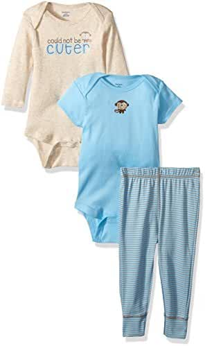 Gerber Baby Boys' 3 Piece Long and Short Sleeve Onesies with Pant