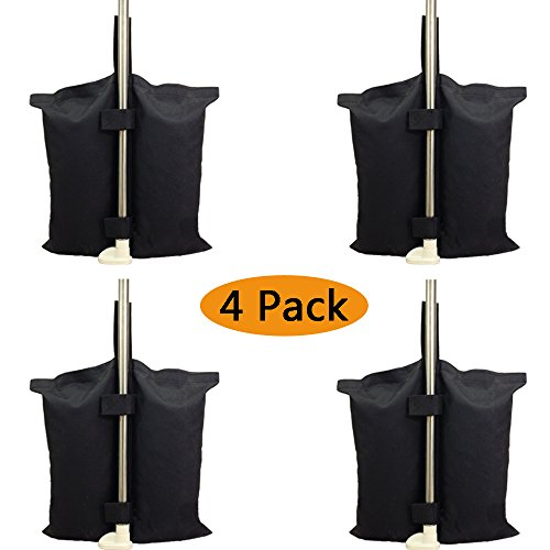 Industrial Grade Heavy Duty Double-Stitched Weights Bag, Leg Weights for Pop up Canopy Tent Weighted Feet Bag Sand Bag outdoor bag Black. (4 PCS a set )