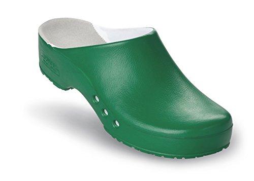 Schürr Chiroclogs Professionale Misto Op-scarpa Con E Senza Cinghia Tallone Verde