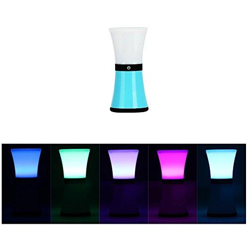 KYG LED Tischdeko, Stimmungslicht Atmosphäre Tischlampe, RGB Farbwechsel Lampe 256 farbiges Licht, USB Aufladbar, Blau
