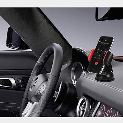 車の吸引のコップブラケット、車の電話ホールダーの空気出口の運行ブラケット360°回転式満ちる座席 (色 : White blue)