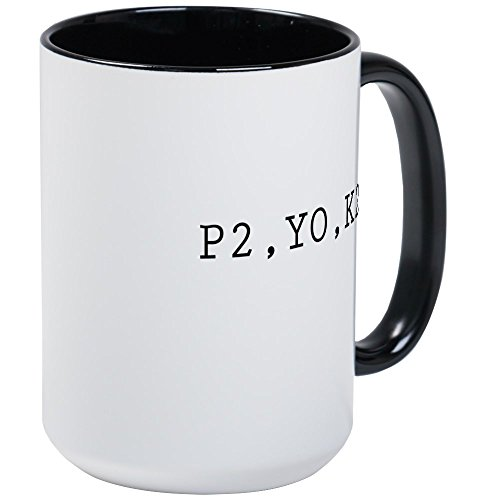 CafePress - P2,YO,K2 (Knitting) - Coffee Mug, Large 15 oz. White Coffee Cup