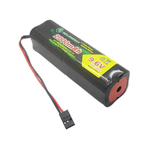 QBLPOWER 9.6v 2000mAh NiMH Battery Pack with Hitec Connector Square Futaba NT8S600B Transmiter for RC Cars Airplanes Heli Sailplanes ()