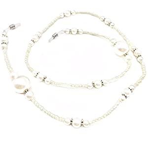 Fashion Pearl Beaded Eyeglass Chain Sunglass Holder Strap Eyewear Retainer Lanyard Necklace