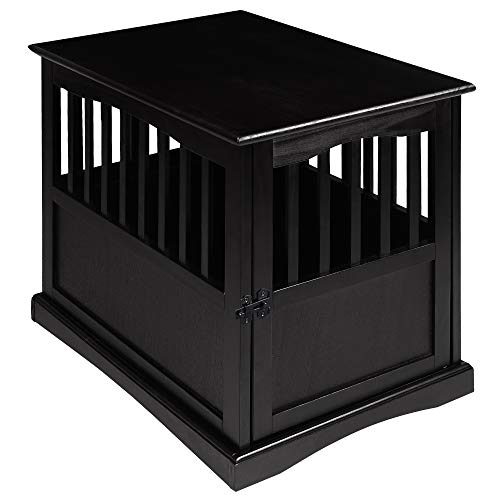 pet crate end table white