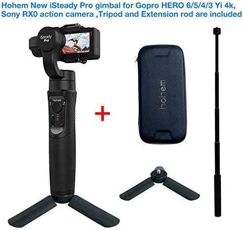 for SJCAM YI cam Action Camera,including tripod stand extension rod for Sony RX0 Hohem iSteady pro Handheld Stabilizing Gimbal Support Motion Timelapse APP Remote Control for GoPro Hero 6//5//4//3