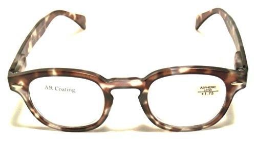 (Optical Reading Glasses Contemporary Design EYE CANDY MORRIS Fashionable Men Women Eyeglasses + Soft Pouch +1.50)
