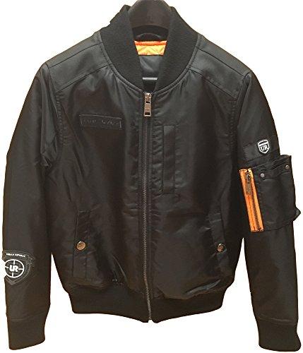 Aviator Jacket Coat - Urban Republic (4632) Mens Poly Twill Aviator Jacket in Black Size: M