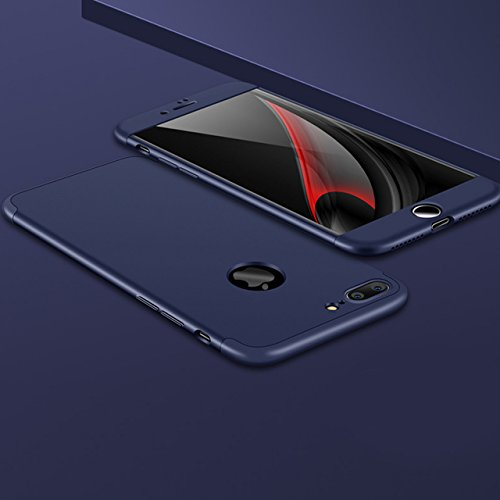 para iPhone 7 Plus / 8 Plus Hybrid Funda de Cuero +PC, Vandot Ultra Slim Ligero Flip Funda con tapa con Smart Clear S-View, [Espejo Efecto] [Auto-Sleep/Wake-up] [Función Atril] 360 Protección de Cuerp QBHD PC 02