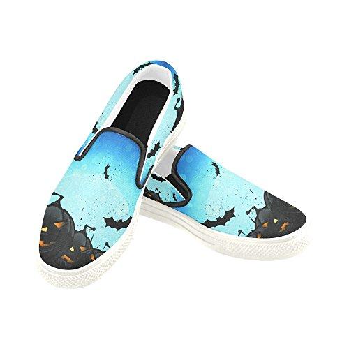D-story Custom Happy Halloween Pumpkin Zapatos De Lona Con Cordones Para Hombre Fashion Sneaker Multicoloured8