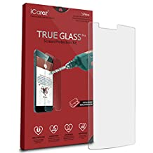 iCarez [Tempered Glass] Screen Protector for LG G4 Easy Install with Lifetime Replacement Warranty 1-Pack - Retail Packaging