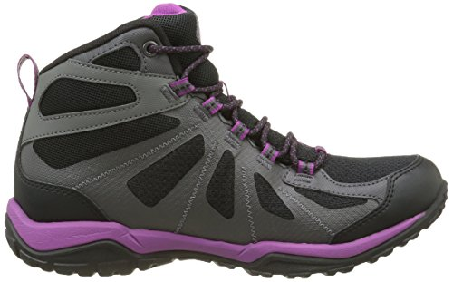 Columbia Peakfreak Xcrsn Ii Xcel Mid Outdry, Zapatos de High Rise Senderismo para Mujer Negro (Black/intense Violet 010)